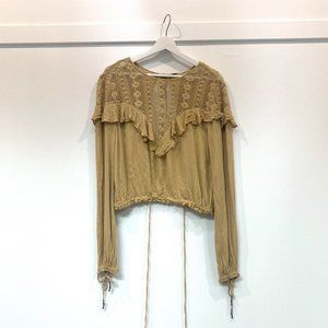 Gold Free People Top